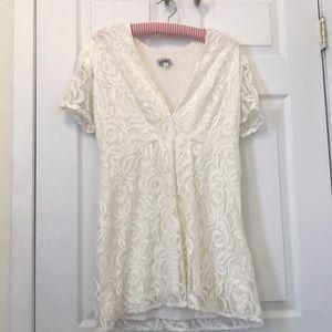 Cream Floral Lace ASOS Mini Dress